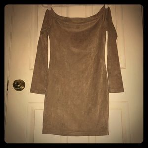 Gorgeous soft suede mini dress 3/4 sleeve Small